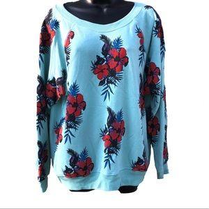 NWT Wildfox | Oversized Floral Sweatshirt | Small
